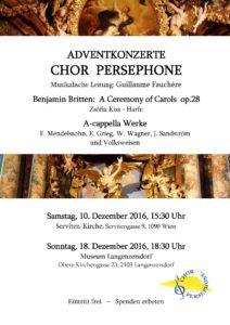 Adventkonzert Chor Persephone 2016